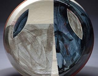 Dish w30cm clear glaze 2014