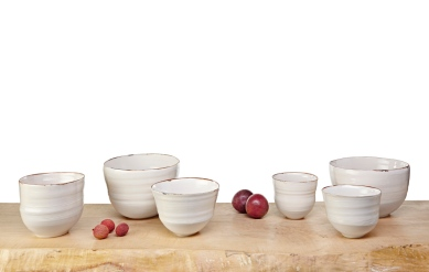 Image 2 KA Ceramics Bronze lustre rim bowl colection