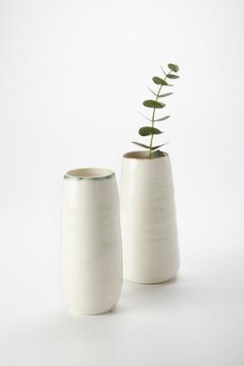 2.Adams KA Ceramics Copper rim 20cm x 6.5cm, Bronze rim 7 cm x 19 cm Photography Matthew Booth