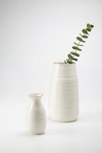 6.Adams KA Ceramics Bronze lustre rim vessel and pourer 8.5cm x 24cm and 5cm x 13cm Photography Matthew Booth