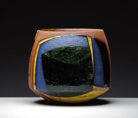 Bowl h16cm dark honey glaze 2015
